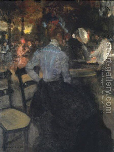 The Cafe by Alfred Henry Maurer - Reproduction Oil Painting