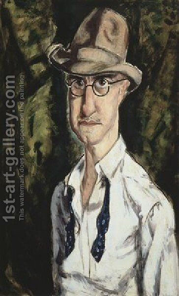 Self Portrait With Hat by Alfred Henry Maurer - Reproduction Oil Painting