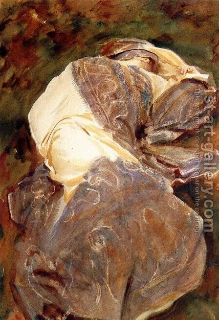 Reclining Figure by Sargent - Reproduction Oil Painting