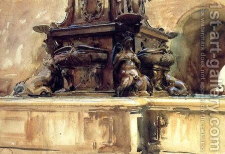 Bologna Fountain by Sargent - Reproduction Oil Painting