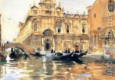 Rio Dei Mendicanti by Sargent - Reproduction Oil Painting