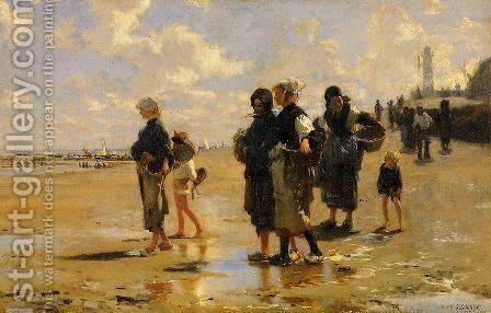 The Oyster Gatherers Of Cancale by Sargent - Reproduction Oil Painting