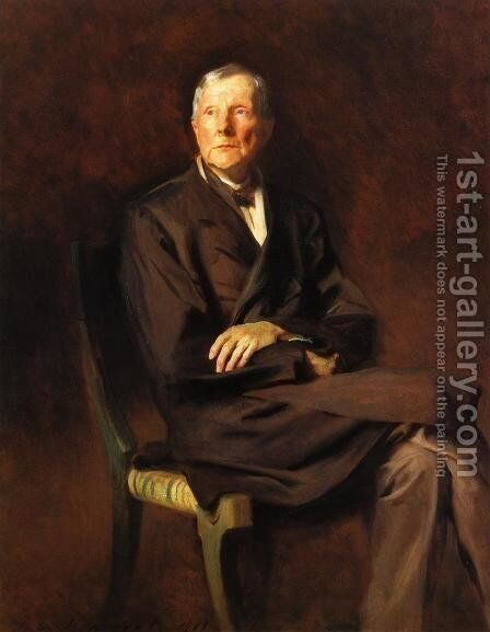 John D  Rockefeller by Sargent - Reproduction Oil Painting