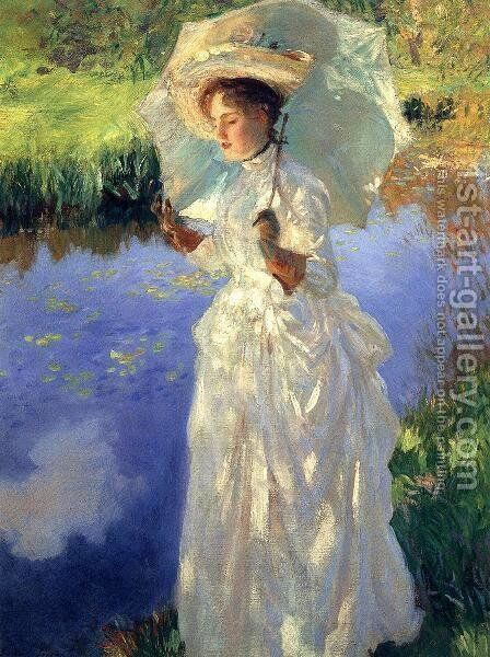 A Morning Walk by Sargent - Reproduction Oil Painting