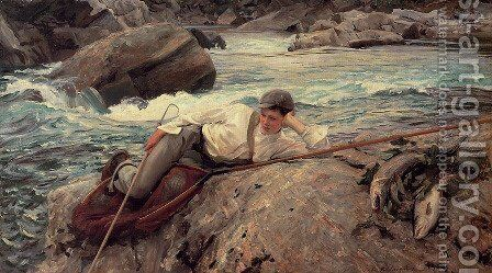 On His Holidays by Sargent - Reproduction Oil Painting