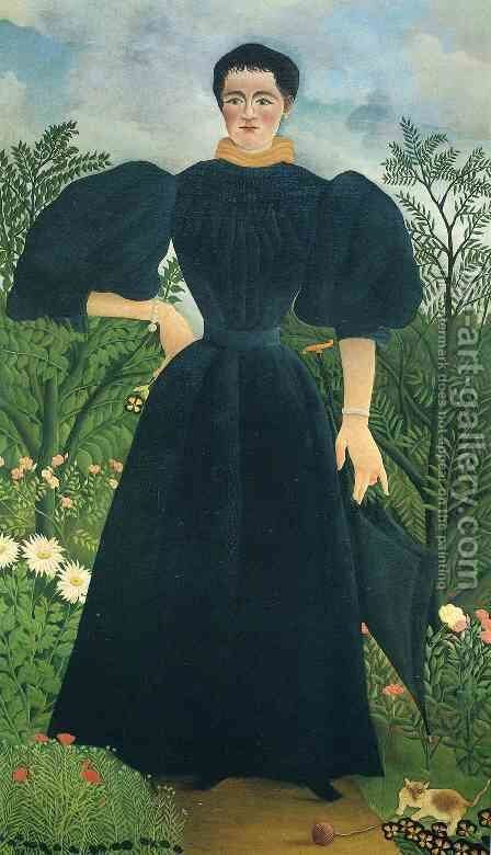 Portrait Of A Woman 1897 by Henri Julien Rousseau - Reproduction Oil Painting