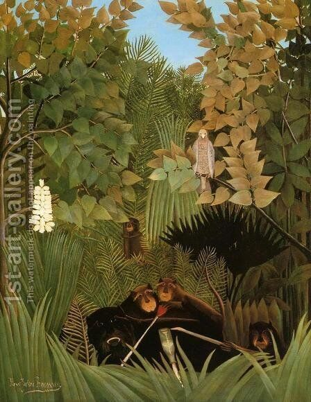 The Merry Jesters by Henri Julien Rousseau - Reproduction Oil Painting