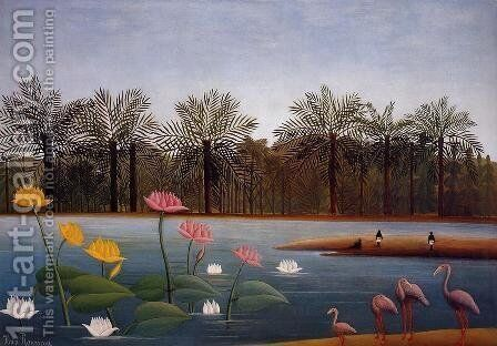 The Flamingoes by Henri Julien Rousseau - Reproduction Oil Painting