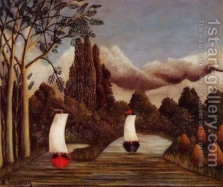 The Banks Of The Oise by Henri Julien Rousseau - Reproduction Oil Painting