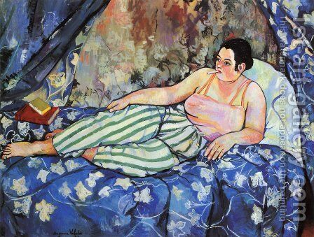 The Blue Room by Suzanne Valadon - Reproduction Oil Painting