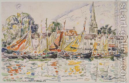Fisihing Boats by Paul Signac - Reproduction Oil Painting