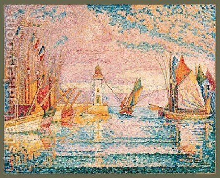 Lighthouse Groix by Paul Signac - Reproduction Oil Painting