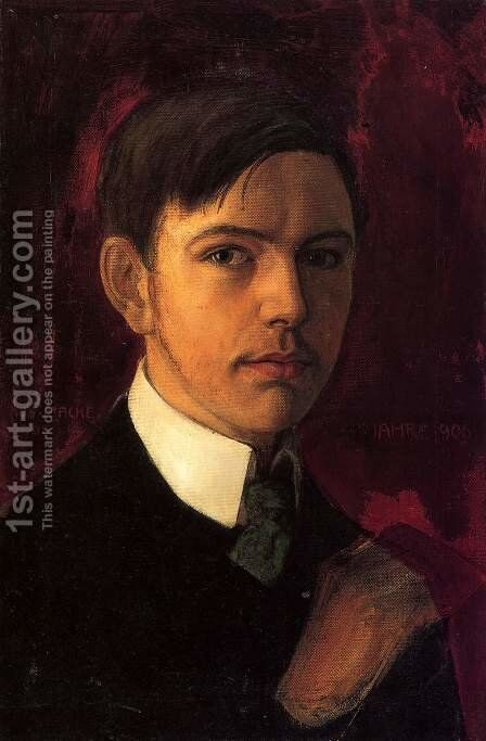 Self Portrait 1906 by August Macke - Reproduction Oil Painting