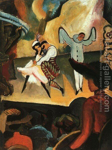 Russian Ballet by August Macke - Reproduction Oil Painting