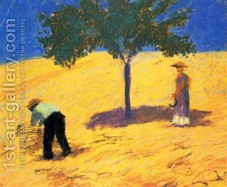 Tree In The Grain Field by August Macke - Reproduction Oil Painting