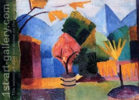 Garden At The Thuner Lake by August Macke - Reproduction Oil Painting