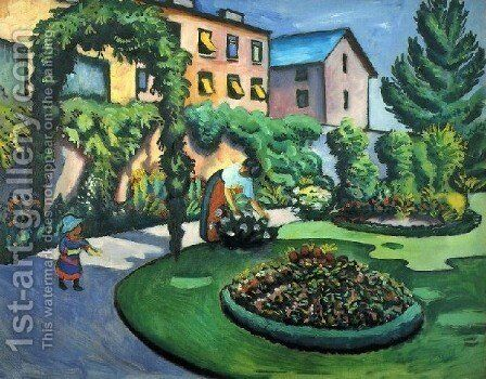 A Garden by August Macke - Reproduction Oil Painting