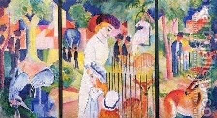 A Zoological Garden by August Macke - Reproduction Oil Painting