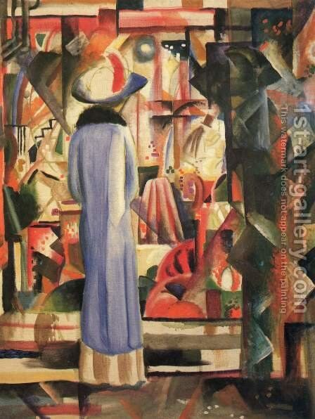 A Large Light Shop Window by August Macke - Reproduction Oil Painting