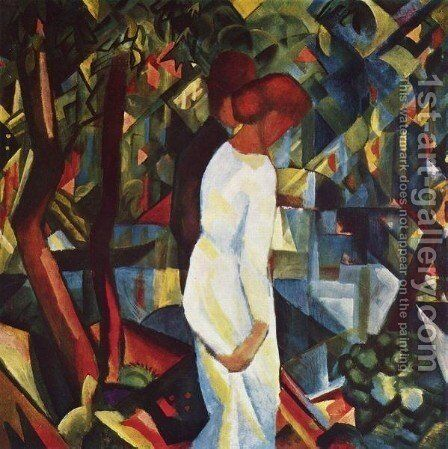 Couple In The Forest by August Macke - Reproduction Oil Painting
