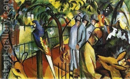 Zoological Garden I  1912 by August Macke - Reproduction Oil Painting