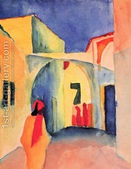 A Street by August Macke - Reproduction Oil Painting