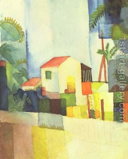 A House by August Macke - Reproduction Oil Painting