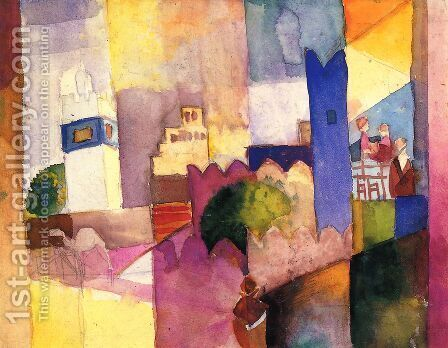 Kairouan by August Macke - Reproduction Oil Painting