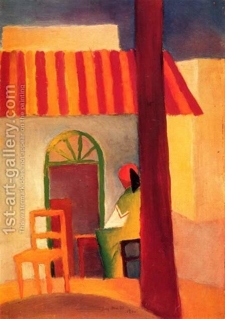 Turkish Cafe by August Macke - Reproduction Oil Painting