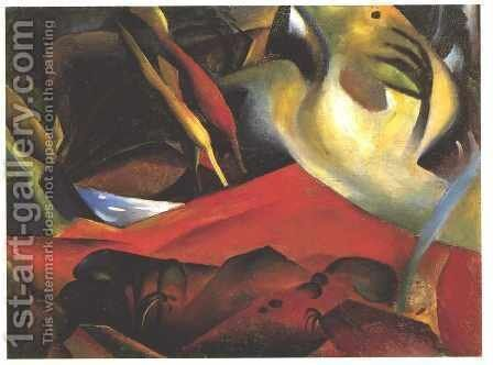 The Storm (Der Sturm) 1911 by August Macke - Reproduction Oil Painting
