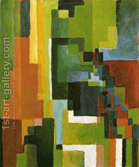 Coloured Forms II by August Macke - Reproduction Oil Painting