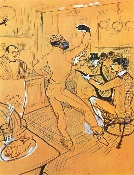 Chocolat Dancing In Bar Darchille by Toulouse-Lautrec - Reproduction Oil Painting
