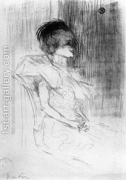 M Lender Sitting by Toulouse-Lautrec - Reproduction Oil Painting