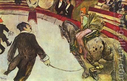 The Circus by Toulouse-Lautrec - Reproduction Oil Painting