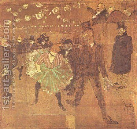 Party In Thr Moulin Rouge Ii Jpg by Toulouse-Lautrec - Reproduction Oil Painting
