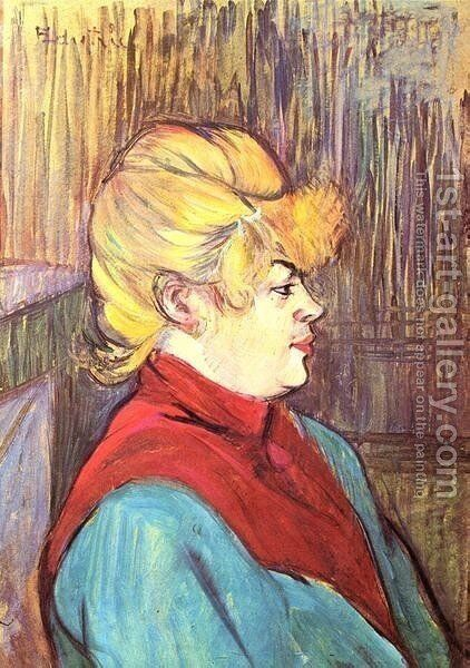 Brothel Worker by Toulouse-Lautrec - Reproduction Oil Painting