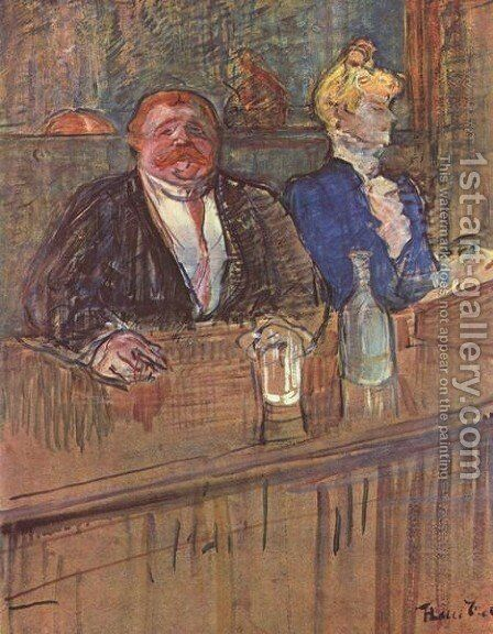 The Bar by Toulouse-Lautrec - Reproduction Oil Painting