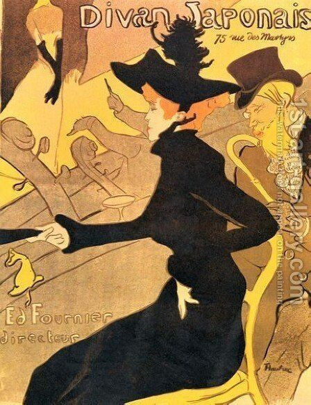 Japanese Diva 1893 by Toulouse-Lautrec - Reproduction Oil Painting