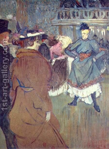 In The Moulin De La Galette Iii by Toulouse-Lautrec - Reproduction Oil Painting