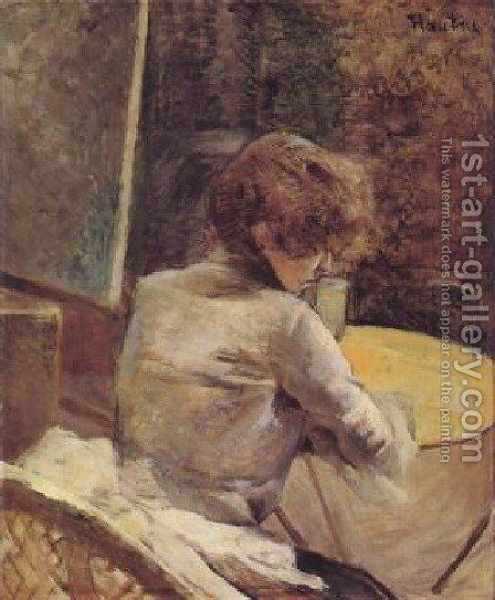 In The Studio by Toulouse-Lautrec - Reproduction Oil Painting