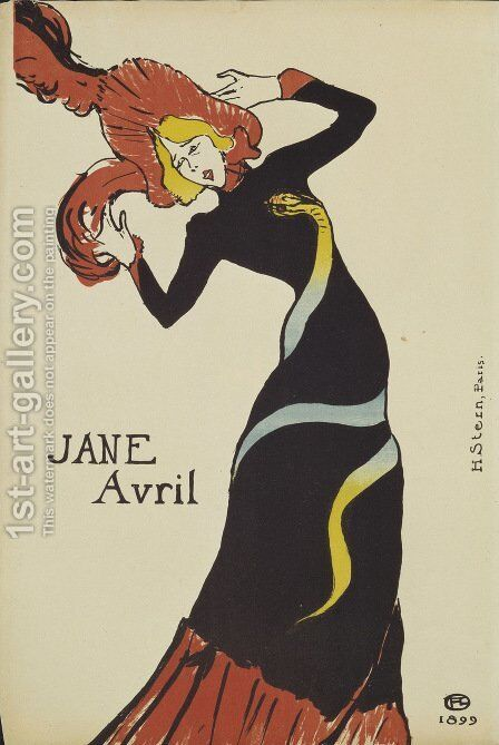 Jane Avril Ii by Toulouse-Lautrec - Reproduction Oil Painting