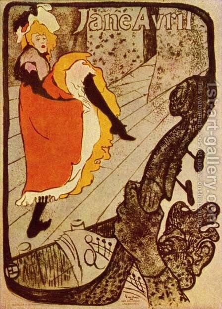 Jane Avril Iii by Toulouse-Lautrec - Reproduction Oil Painting