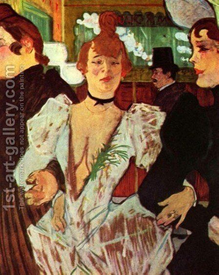 Goule Enters The Moulin Rouge With Two Women by Toulouse-Lautrec - Reproduction Oil Painting