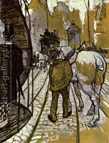The Preliminaries Horse Of The Rails Bus Company by Toulouse-Lautrec - Reproduction Oil Painting