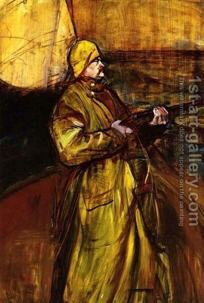 Maurice Joyant In A Summer Bay by Toulouse-Lautrec - Reproduction Oil Painting