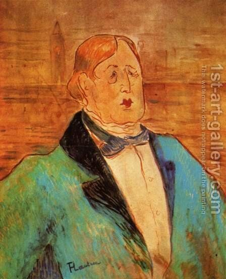 Portrait Of Oscar Wilde by Toulouse-Lautrec - Reproduction Oil Painting