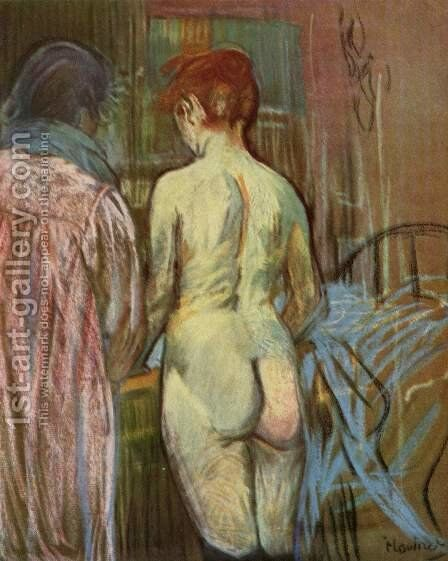 Two Girls by Toulouse-Lautrec - Reproduction Oil Painting
