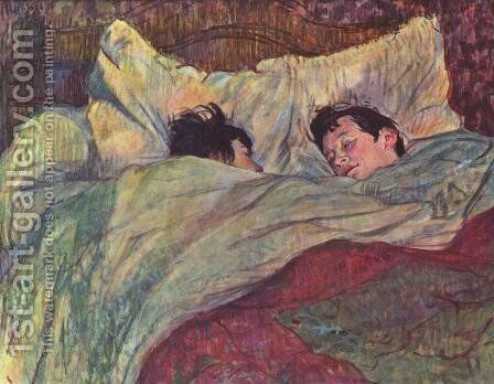Two Girls In Bed by Toulouse-Lautrec - Reproduction Oil Painting