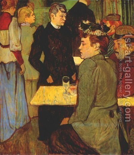 A Corner In A Dance Hall by Toulouse-Lautrec - Reproduction Oil Painting