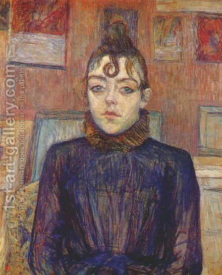 Lautrec Girl With Lovelock by Toulouse-Lautrec - Reproduction Oil Painting